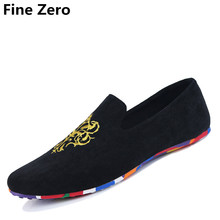 FIne Zero 2017 fashion suede men shoes soft leather flat shoes casual slip on moccasins men loafers hight quality driving flats
