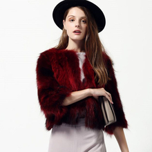2017 New Winter Women Real Raccoon Fur Coat Short Design Three Quarter Sleeve Genuine Fox Coats Luxury Warm Jacket Furriery(China)