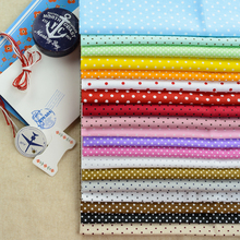 100% Cotton Quilting Fabric 19PCS 40x50cm Fat Quarter Bundles Polka Dots Sewing Patterns Handmade Home Textile Fabrics Material(China)