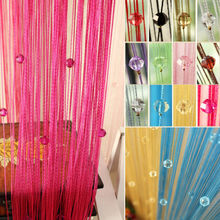 Hot Sale Romantic Beads Design Beaded Crystal Curtain String Door Window Curtain Divider partition Tassel Decoration 100x200cm