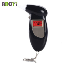 10pcs/lot New 3-digit LCD Display Keychain Professional Mini Police Digital LCD Breath Alcohol Tester Breathalyzer Alcohol Met