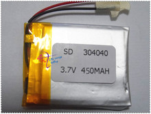 Large number of manufacturers supply lithium -polymer battery 304040 450mah