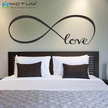 Love Infinity Symbol Bedroom Personalized Vinyl Wallpaper DIY Wall Decals Love Quotes Wall Art Bedroom Decor Wall Stickers