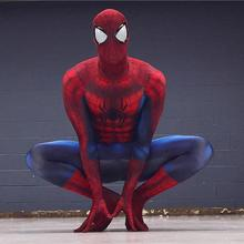 red black spider man homecoming costume suit mask halloween costumes the amazing cosplay adult spandex zentai custom Spiderman(China)