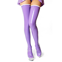 Buy Purple Latex Stocking Sexy Latex Girls Long Stocking Tights Long Socks