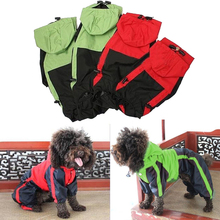 Waterproof Dog Clothes PU Raincoat Clothing for Small Medium Dogs Puppy Winter Pet Coat Jacket Apparel(China)