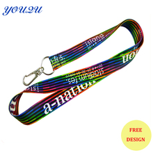 Polyester lanyard with custom logo polyester neck lanyard lanyard with custom logo Promotional Lanyard for exhibition activity(China)