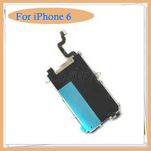 LCD Holding Back Metal Plate with Home Button Extend Flex Cable for iPhone 6 & 6 plus inch Repair Parts Free shipping