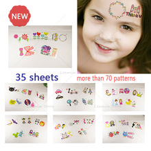 35pcs Temporary tattoo kid tattoo cartoon tattoo sticker car princess bike butterfly lovely