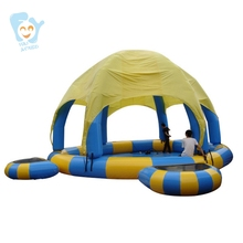Dia 8m Large Inflatable Swimming Pool With Dome And Trampoline Water Fun Game Sports Park