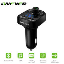FM Transmitter Wireless Bluetooth Car Kit Handsfree MP3 Player LED Dual USB 4.1A Quick Charger Voltage Display Micro SD TF