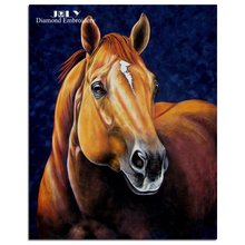 Diamond painting cross stitch animal horse diamond embroidery craft animal brown horse picture of rhinestones handcraft hobby