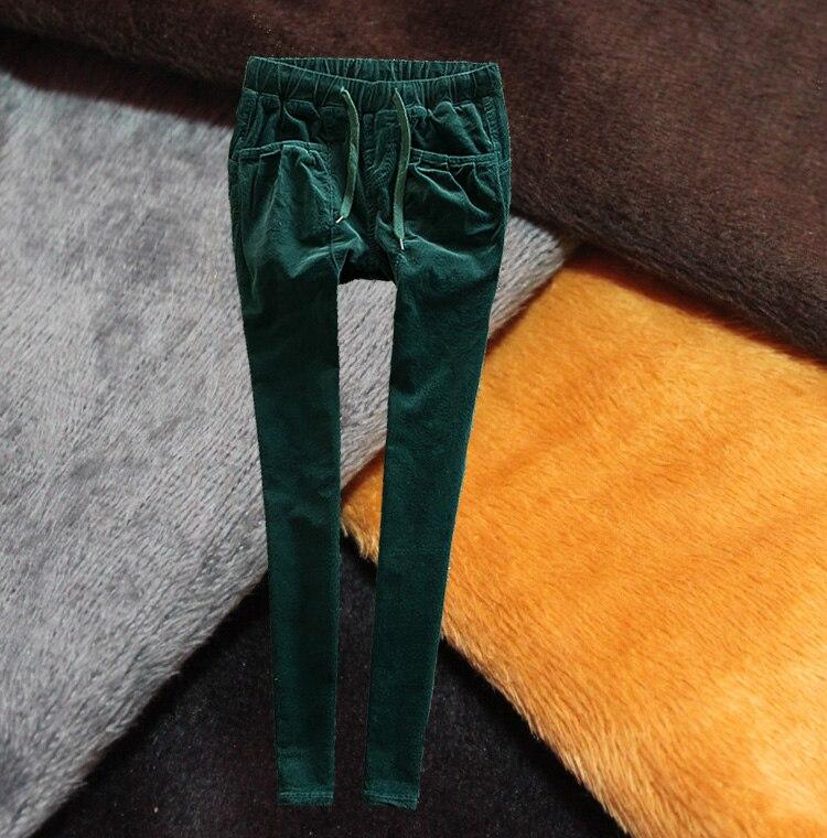 new women elastic waist plus velvet corduroy pants plus size xxs-7XL stretch pants warm full long pantsОдежда и ак�е��уары<br><br><br>Aliexpress