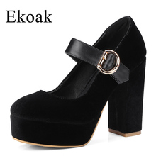 Buy Ekoak New 2018 Fashion Party Wedding Shoes Woman Super High Heels Platform Shoes Mary Janes Women Pumps Handmade Women Shoes for $33.99 in AliExpress store