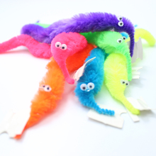 Cute Magical Worm Magic Trick Twisty Caterpillar Plush Wiggle Stuffed Animals Street For Kids Baby MRT06