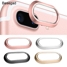 Besegad Metal Rear Camera Lens Ring Guard Circle Cover Lens Protector Bumper Case for iPhone 7 Plus/ 8 Plus 5.5 Inch Gadgets
