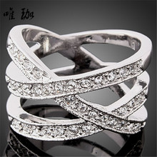 10pcs/lot Hot selling a variety of effects inlaid CZ Diamond ladies ring finger