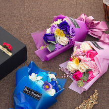 Christmas Valentine's Day gift 11 flower bouquet soap flower gift box(China)