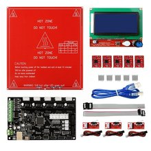 MKS Gen V1.4 RepRap Ramps1.4 +12864 Smart LCD Display +Heated Bed+5PCS A4988 Stepper Motor Driver+3PCS Mechanical Endstop Switch(China)