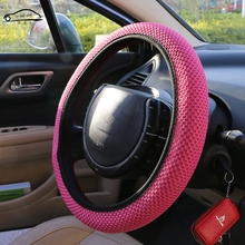 Sandwich Fabric Handmade Steering Wheel Cover Breathability Skidproof Universal Fits Most Car Styling Steering Wheel(China)
