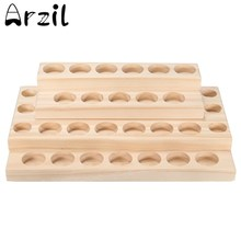 5ml - 15ml Bottles Handmade Natural Pine Wood Display Rack Essential Oil Wooden Tray 30 holes Demonstration Station
