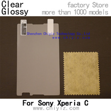 Clear Glossy screen protector protective film for Sony Xperia C Dual C2304 C2305 S39h
