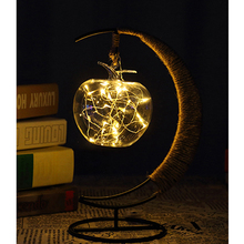 20 LED Night Light Apple Lamp Bedroom Bookcase Nightlight Fairy Festoon usb Led veilleuse For children Baby Gift Home Decoration(China)