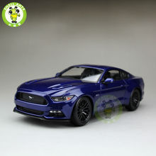 1:18 2015 Ford Mustang GT 5.0 diecast car model for gifts collection hobby Blue maisto 31197(China)