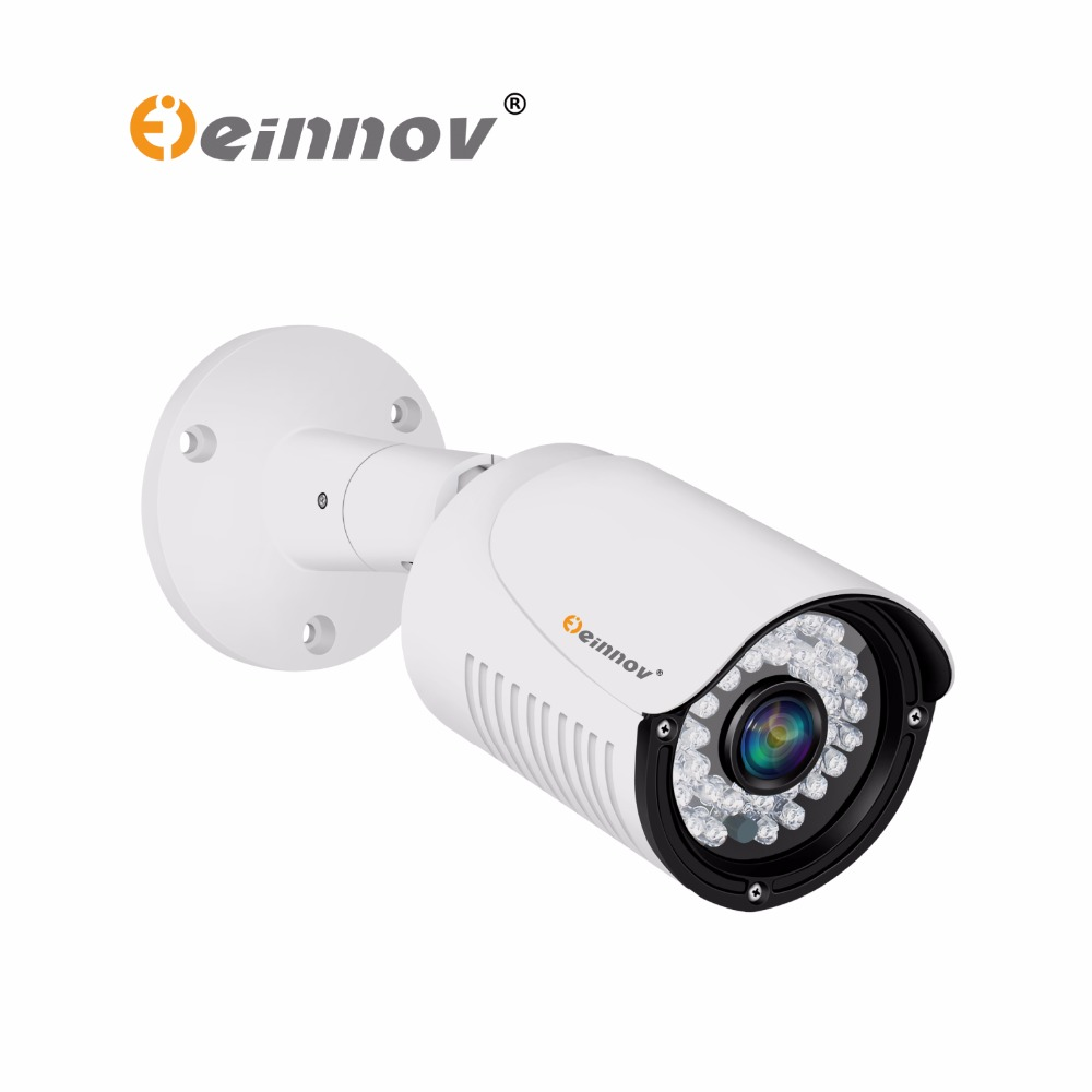 EINNOV 1080P POE Camera 2MP HD Outdoor Waterproof Infrared Night Vision Mini Security Bullet Outdoor ip Camera with audio mic <br>