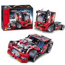 Decool 3360 Lepin Technic Race Truck building bricks blocks New year Gift Toys for children boys Model Car Bela 8041