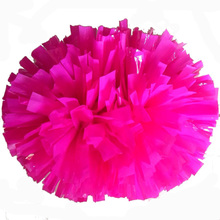 Pink cheerleading pompoms (2pieces/lot) 40CM Cheers pompon with middle plastic handle Color can free combination