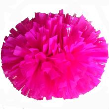 Pink cheerleading pompoms (2pieces/lot) 40CM Cheers pompon with middle plastic handle Color can free combination(China)