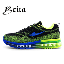 2016 brand beita running shoes breathable lace-up Men athletic shoes mesh upper sport shoes brand men  shoes
