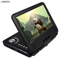 LONPOO 9 Inch portable DVD player with rotatable screen game function support CD player MP3/MP4 dvd player for home car(China)