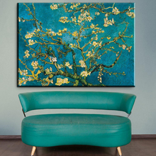 xdr435 Vincent Van Gogh Blossoming Almond Tree Oil Painting Canvas Print Painting Home Decor Large Size Wall Picture For Living