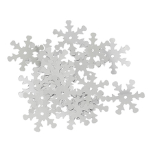 Hoomall 1000PCs Christmas Snowflake Sequins Sewing Scrapbooking Crafts Christmas Decoration Ornament