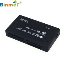 Binmer Mecall MINI USB 2.0 Card Reader for SD XD MMC MS CF SDHC TF Micro SD M2 Adapter