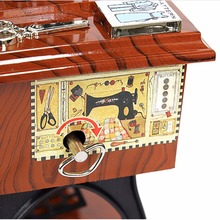 Music Box Musical Vintage Look Retro Classical Desk Decor 7inch Sewing Machine
