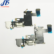 "10pcs/lot for iPhone 6 6g 4.7""Dock Connector Usb Charger Charging Port Flex Cable Ribbon with Headphone Audio Jack"