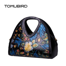 TOMUBIRD 2016 New women genuine leather bag hand embossing leather art bag fashion national wind  women leather handbags
