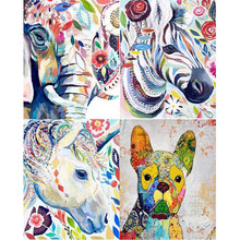 The latest full place animals series diamond mosaic embroidery needle craft wall decor diy 5d diamond painting elephant AL027(China)