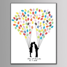 Buy Ballons Pattern Bride Groom Fingerprint Tree Birthday Party Wedding Gift Party Decor Wedding Guest Book Attendance Fingerprint for $6.89 in AliExpress store