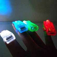 4Pcs/set LED Finger Lights Lamps Beam Torch Glow Ring Toys For Children