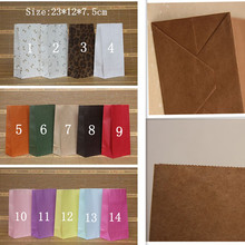 Size 23cm * 12cm * 7.5cm new 14 styles Different colors without handle paper bag  food packaging  kraft paper bag 50pcs