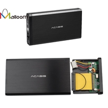 Malloom 3.5 Inch Unbreakable IDE SATA Hard Drive Case Universal USB Serial Parallel Port Dual HDD Enclosure For PC#35(China)