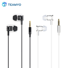 Teamyo X6 Good Bass Metal In-Ear Earphone With Mic 3.5mm Earbuds Headset For iPhone 6S 6 5S 4S Samsung MP3 MP4 fone de ouvido