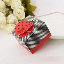 30pcs/Set Candy Boxes Ladybird Ladybug Style Baby Shower Kids Birthday Party Favors Wedding Gifts Box Souverir Free Shipping(China)