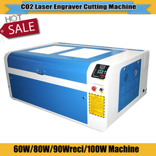 CO2 laser engraving cutting machine wooden laser engraver machine 6090 600*900mm motorized up and down working table for sale(China)