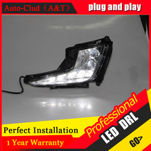 Auto Clud car styling For Kia K2 LED DRL For K2 led fog lamps daytime running light High brightness guide LED DRL L shape(China)