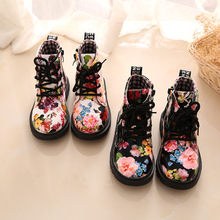 Baby Boots Arrive High Quality Fashion Children Martin Boots Baby Girls Cow Muscle Bottom Boots Girls Martin Boots(China)